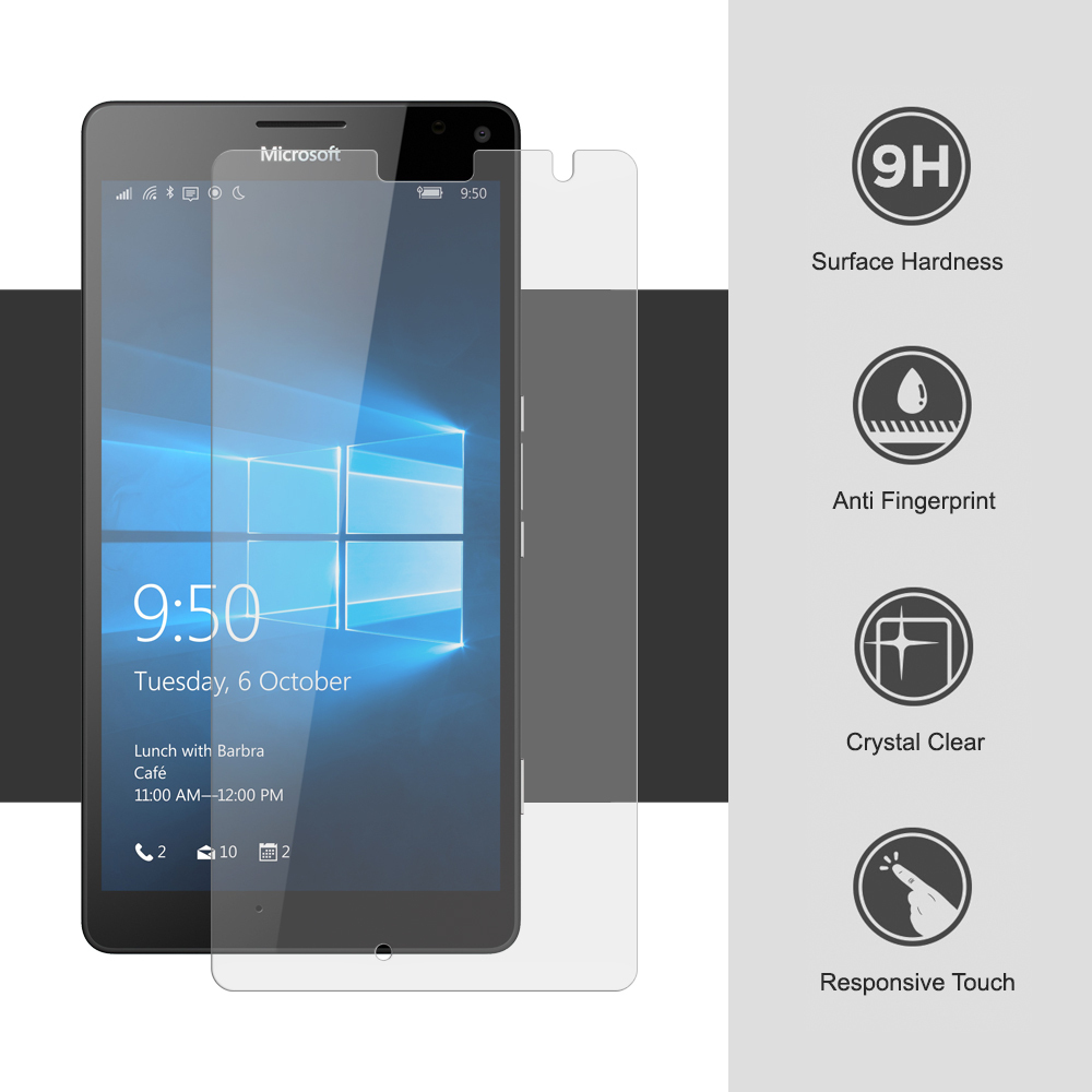 Poulsen USA, olixar microsoft lumia 950 xl tempered glass screen protector the top