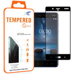 Full Coverage Tempered Glass Screen Protector for Nokia 8 - Black