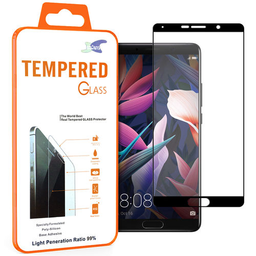 Full Fit Tempered Glass Screen Protector for Huawei Mate 10 - Black