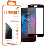 Full Coverage Tempered Glass Screen Protector - Motorola Moto G5S - Black