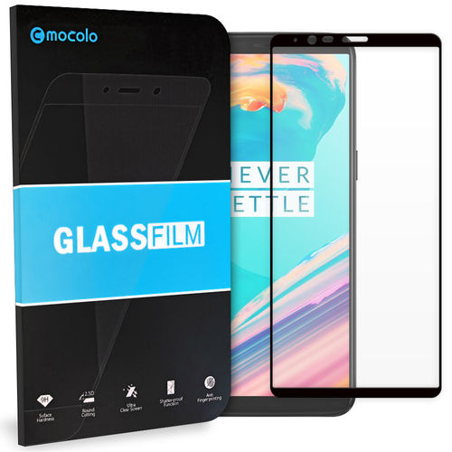 Mocolo Full Fit Tempered Glass Screen Protector for OnePlus 5T - Black