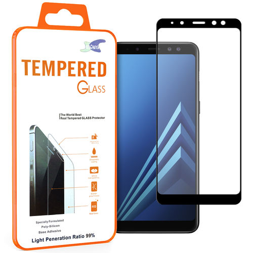 Black Full Tempered Glass Screen Protector - Samsung Galaxy A8 (2018)