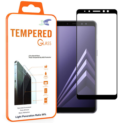Black Full Tempered Glass Screen Protector - Samsung Galaxy A8+ (2018)