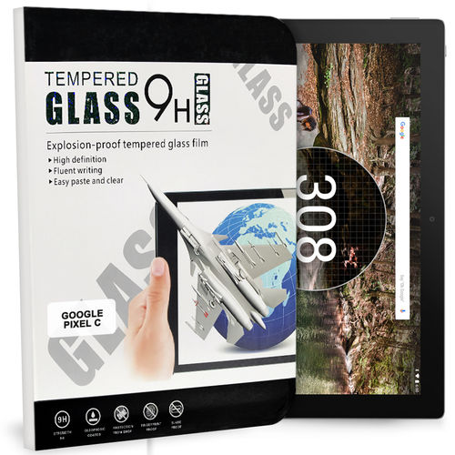 9H Tempered Glass Screen Protector for Google Pixel C Tablet - Clear
