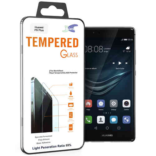 Calans 9H Tempered Glass Screen Protector for Huawei P9 Plus - Clear