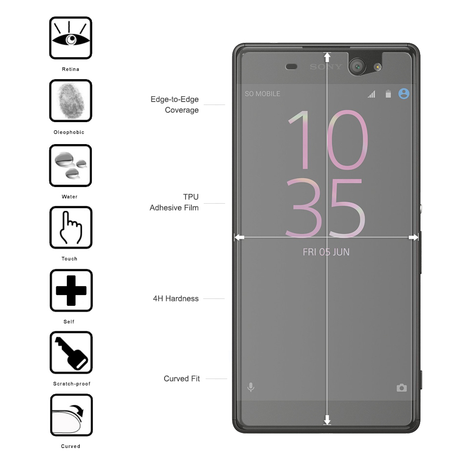 IMAK Curved Fit TPU Screen Protector - Sony Xperia XA Ultra