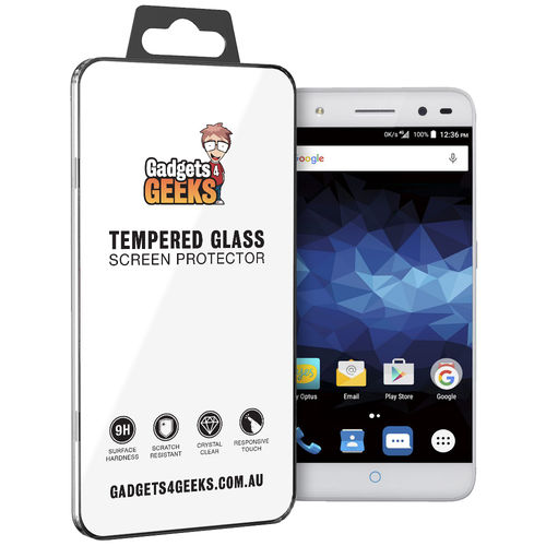 9H Tempered Glass Screen Protector for Optus ZTE Blitz - Clear