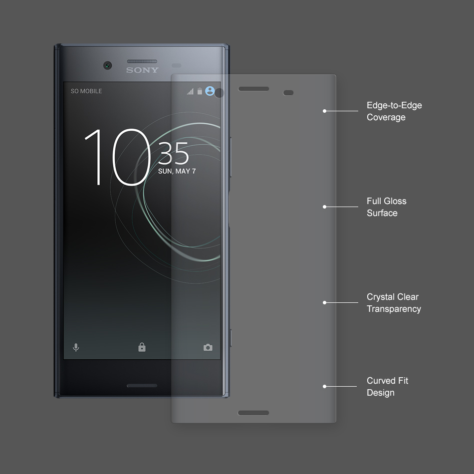 Full curved tpu screen protector sony xperia xz premium for Housse xperia xz premium