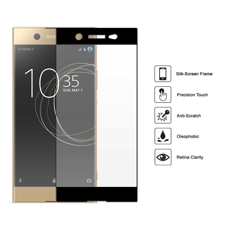 tempered glass screen protector sony xperia xa1 ultra. Black Bedroom Furniture Sets. Home Design Ideas