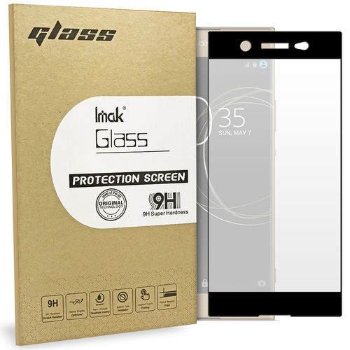 Full Tempered Glass Screen Protector - Sony Xperia XA1 Ultra - Black