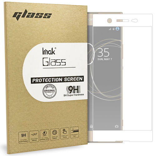Full Tempered Glass Screen Protector - Sony Xperia XA1 Ultra - White