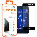 Full Coverage Tempered Glass Screen Protector for HTC U11 - Black