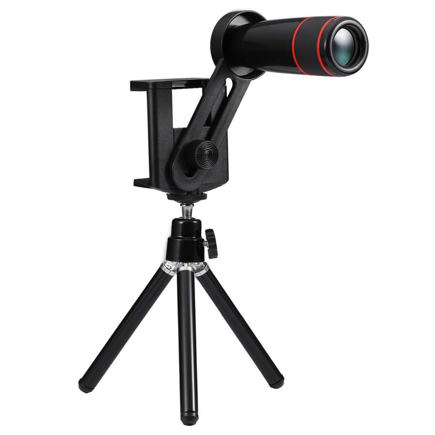 12X Optical Telescope Camera Lens & Tripod for Phones
