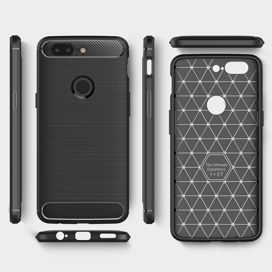 best loved 15cd5 668af Flexi Carbon Fibre Tough Case - OnePlus 5T (Black)