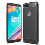 Flexi Carbon Fibre Shockproof Case for OnePlus 5T - Black