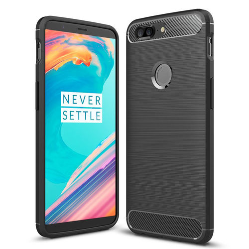 Flexi Carbon Fibre Tough Case for OnePlus 5T - Brushed Black