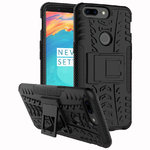 Dual Layer Rugged Tough Shockproof Case for OnePlus 5T - Black