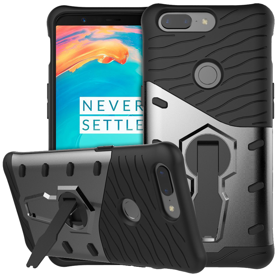 new arrival f9d66 40018 Slim Shield Tough Case for OnePlus 5T (Grey)