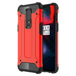 Military Defender Shockproof Case for OnePlus 6 - Red