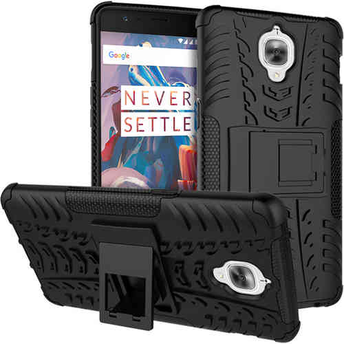 Dual Layer Rugged Tough Shockproof Case for OnePlus 3 / 3T - Black