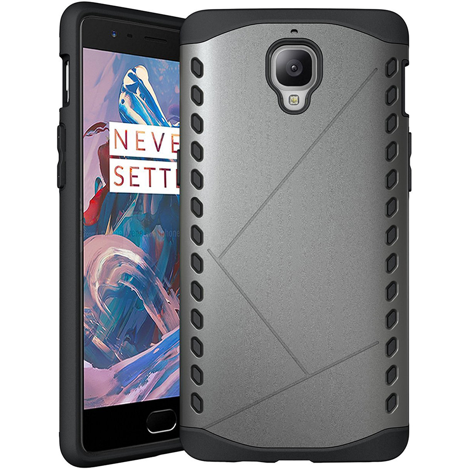 superior quality d96c1 713c5 Extreme Shield Heavy Duty Hybrid Case - OnePlus 3 / 3T (Silver)