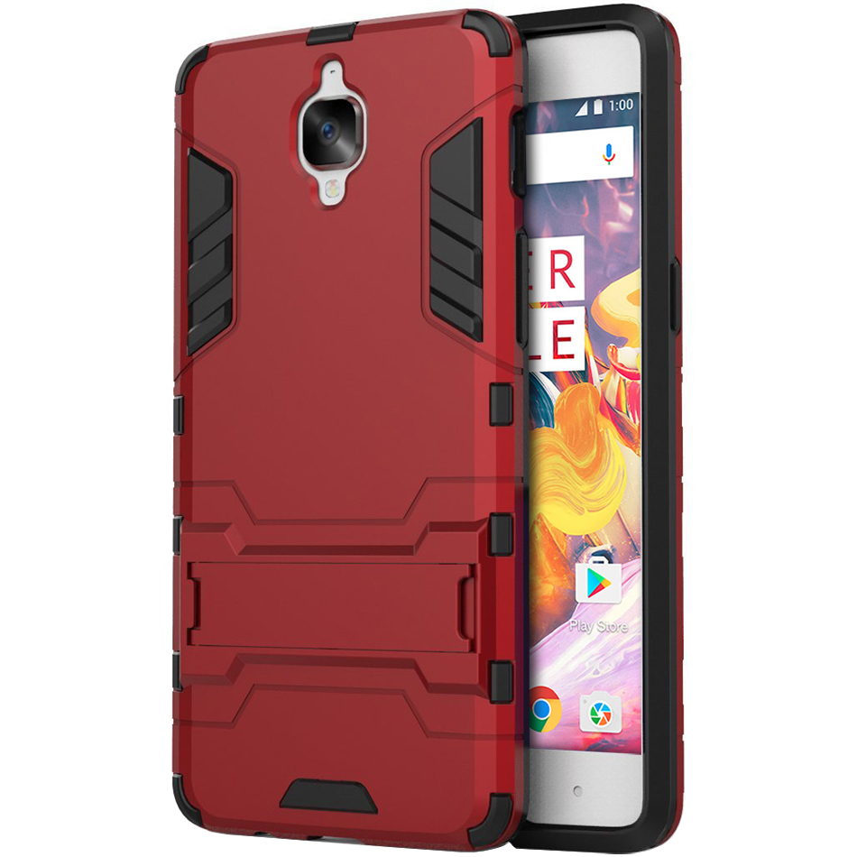 premium selection 8a12e d6127 Slim Armour Tough Shockproof Case - OnePlus 3 / 3T (Red)