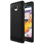 Flexi Carbon Fibre Tough Shockproof Case for One Plus 3 / 3T - Black