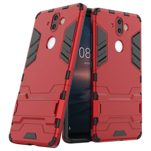 Slim Armour Tough Shockproof Case for Nokia 8 Sirocco - Red
