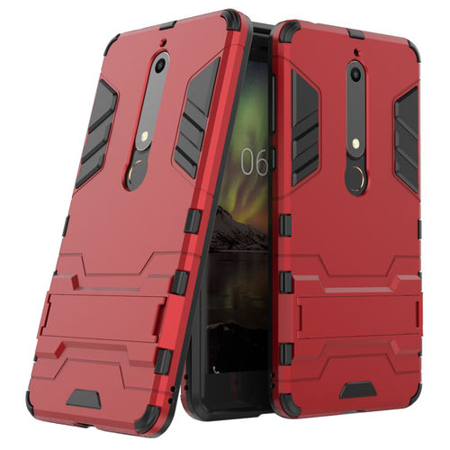 Slim Armour Tough Shockproof Case for Nokia 6 (2018) - Red