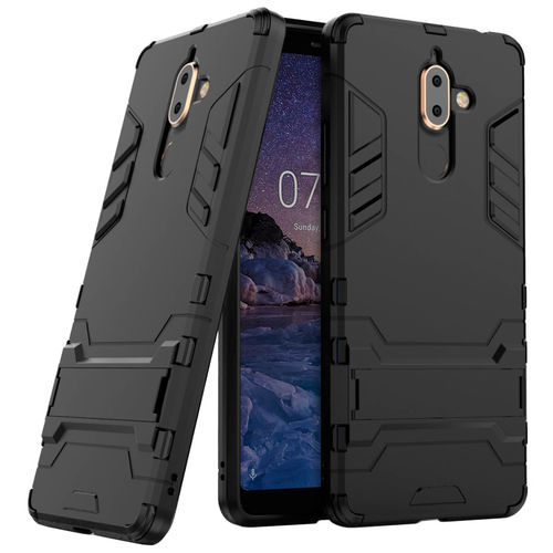 Slim Armour Tough Shockproof Case for Nokia 7 Plus - Black