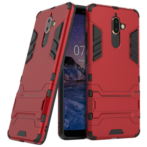 Slim Armour Tough Shockproof Case for Nokia 7 Plus - Red