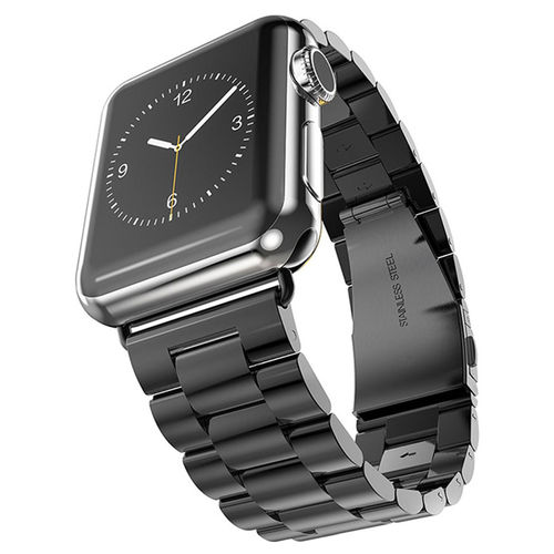 Xincuco Stainless Steel Link Bracelet for Apple Watch 38mm - Black