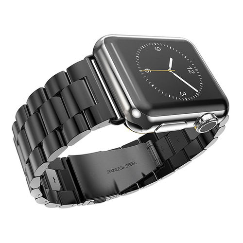 Xincuco Stainless Steel Link Bracelet for Apple Watch 42mm - Black