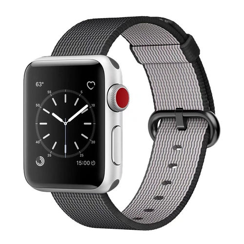 Xincuco Woven Nylon Band & Metal Buckle for Apple Watch 38mm - Black