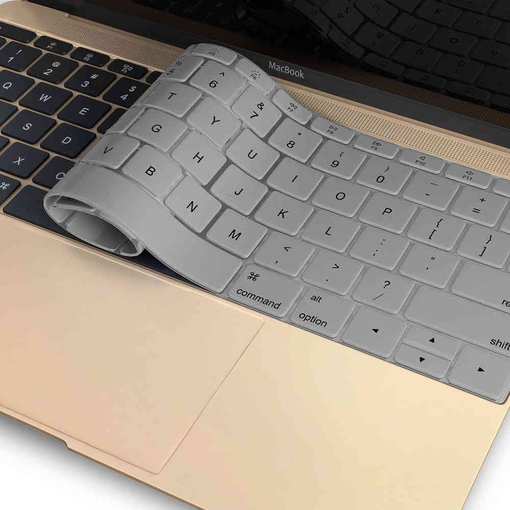 wholesale dealer 48e1f 44573 Enkay Keyboard Protector Cover for Apple MacBook (12-inch) - Silver