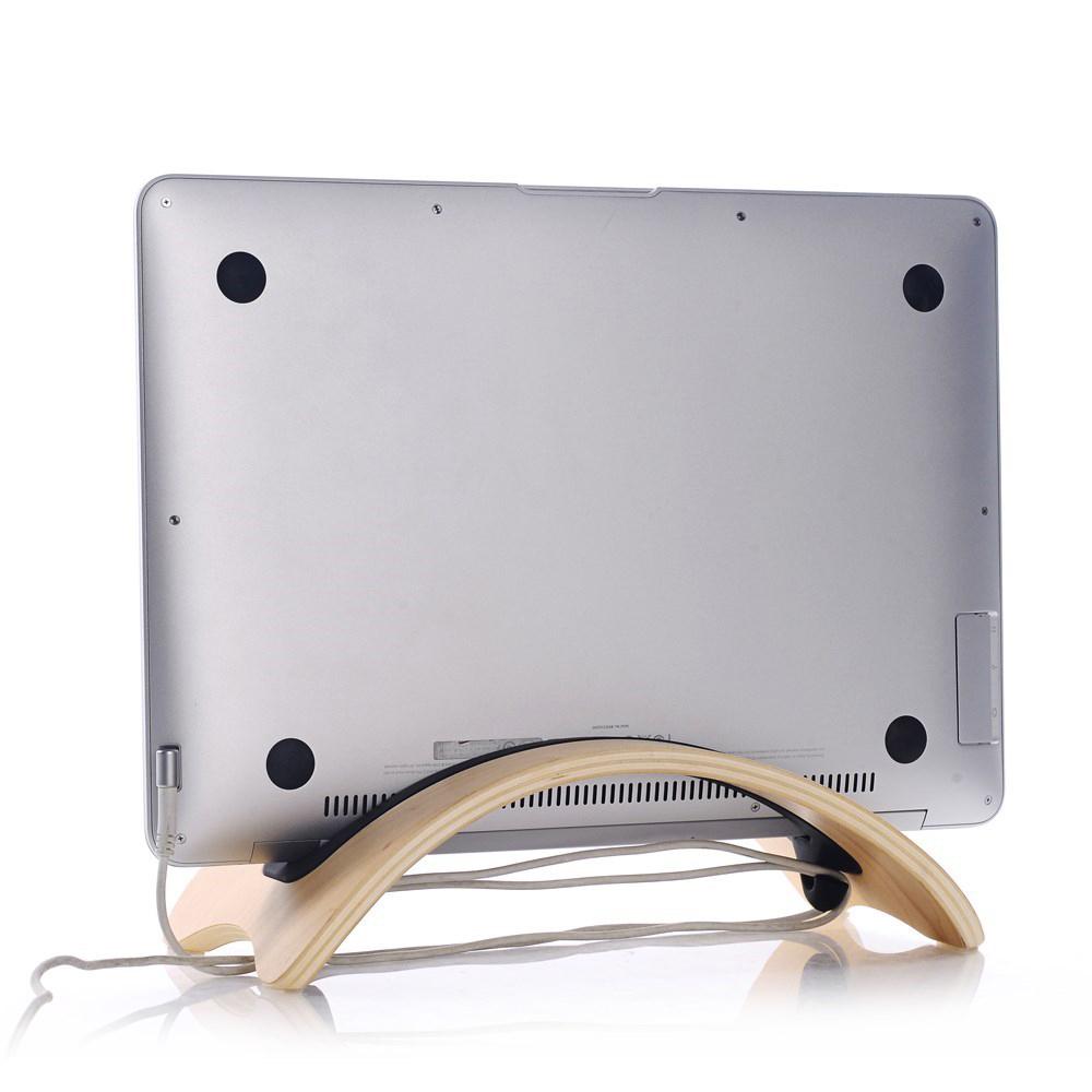 Samdi Archy Bridge Wood Desk Stand Holder Macbook Ipad