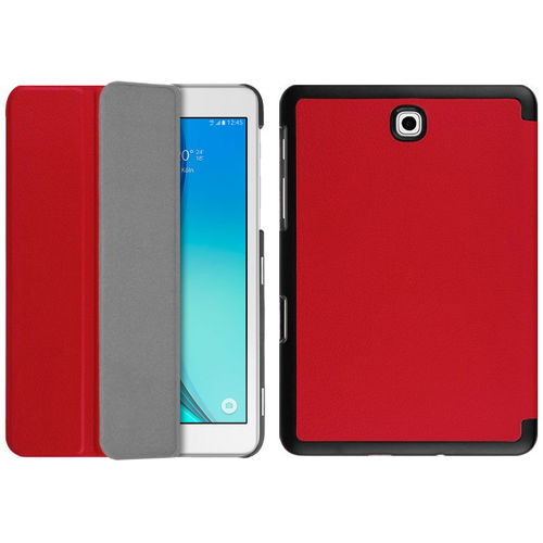 Smart Trifold Leather Case Stand for Samsung Galaxy Tab S2 8.0 - Red