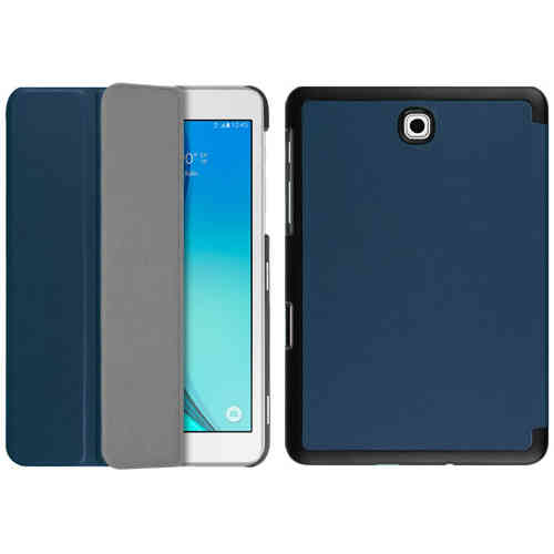 Smart Trifold Leather Case Stand for Samsung Galaxy Tab S2 8.0 - Blue