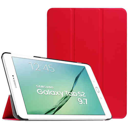 Smart Trifold Leather Case Stand for Samsung Galaxy Tab S2 9.7 - Red