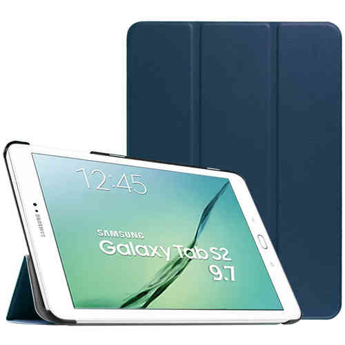 Smart Trifold Leather Case Stand for Samsung Galaxy Tab S2 9.7 - Blue