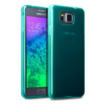Flexi Gel Two-Tone Case for Samsung Galaxy Alpha - Smoke Blue