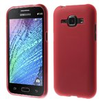 Flexi Gel Case for Samsung Galaxy J1 (2015) - Frosted Red (Two-Tone)