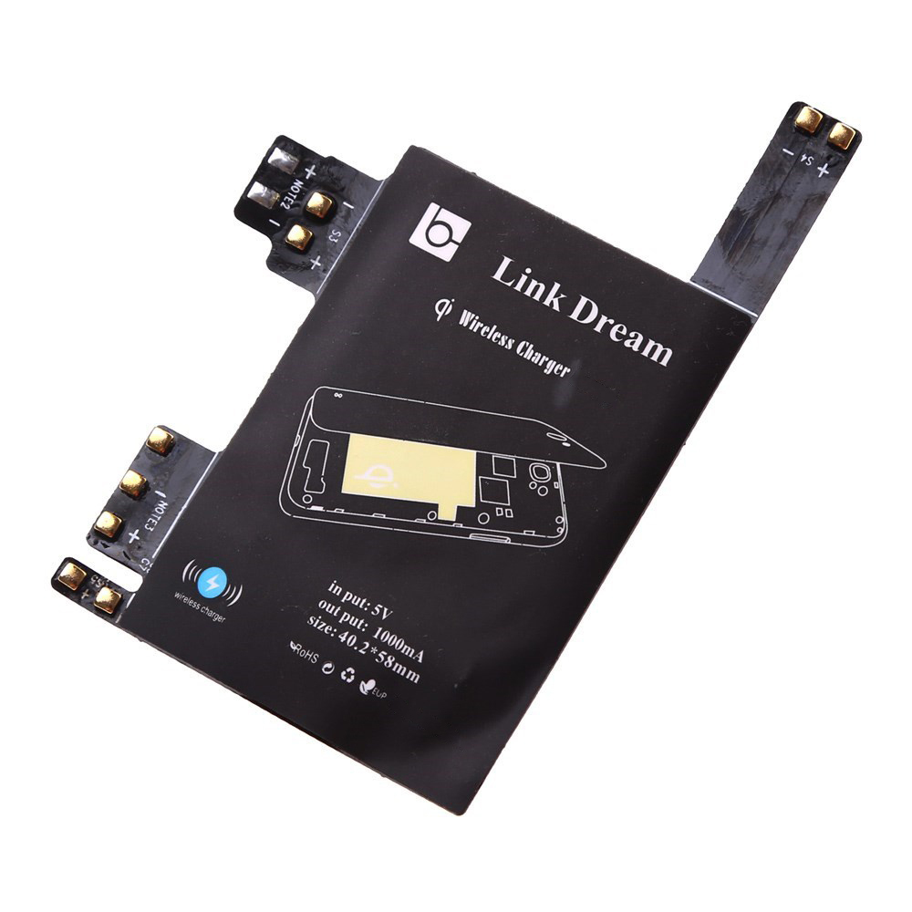 wireless charging receiver card galaxy s3 s4 s5 note 3. Black Bedroom Furniture Sets. Home Design Ideas