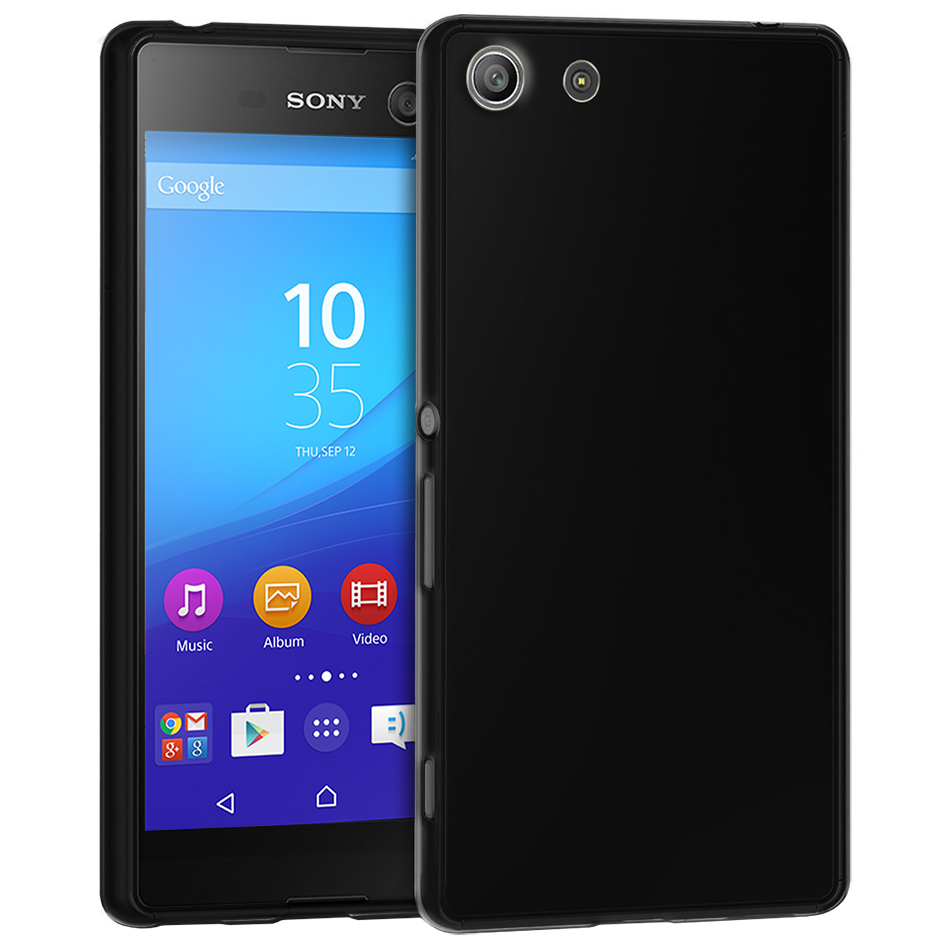 info for 05533 35085 Flexi Gel Case for Sony Xperia M5 - Black (Gloss Grip)