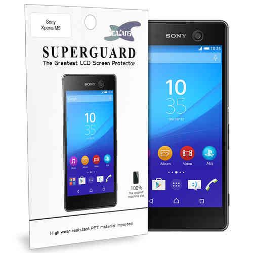 Calans (2-Pack) PET Clear Film Screen Protector for Sony Xperia M5
