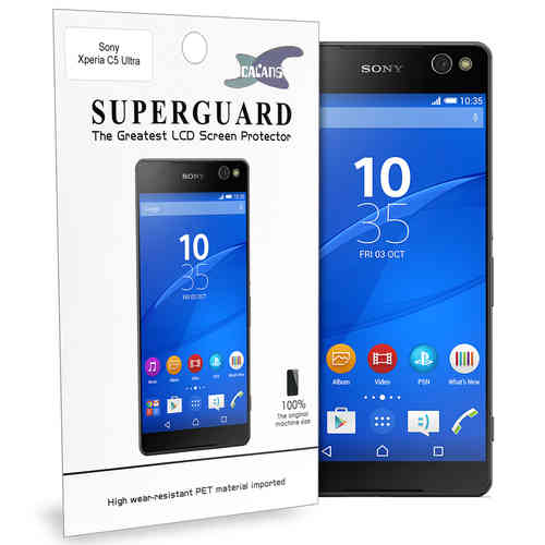 Calans (2-Pack) Clear Film Screen Protector for Sony Xperia C5 Ultra