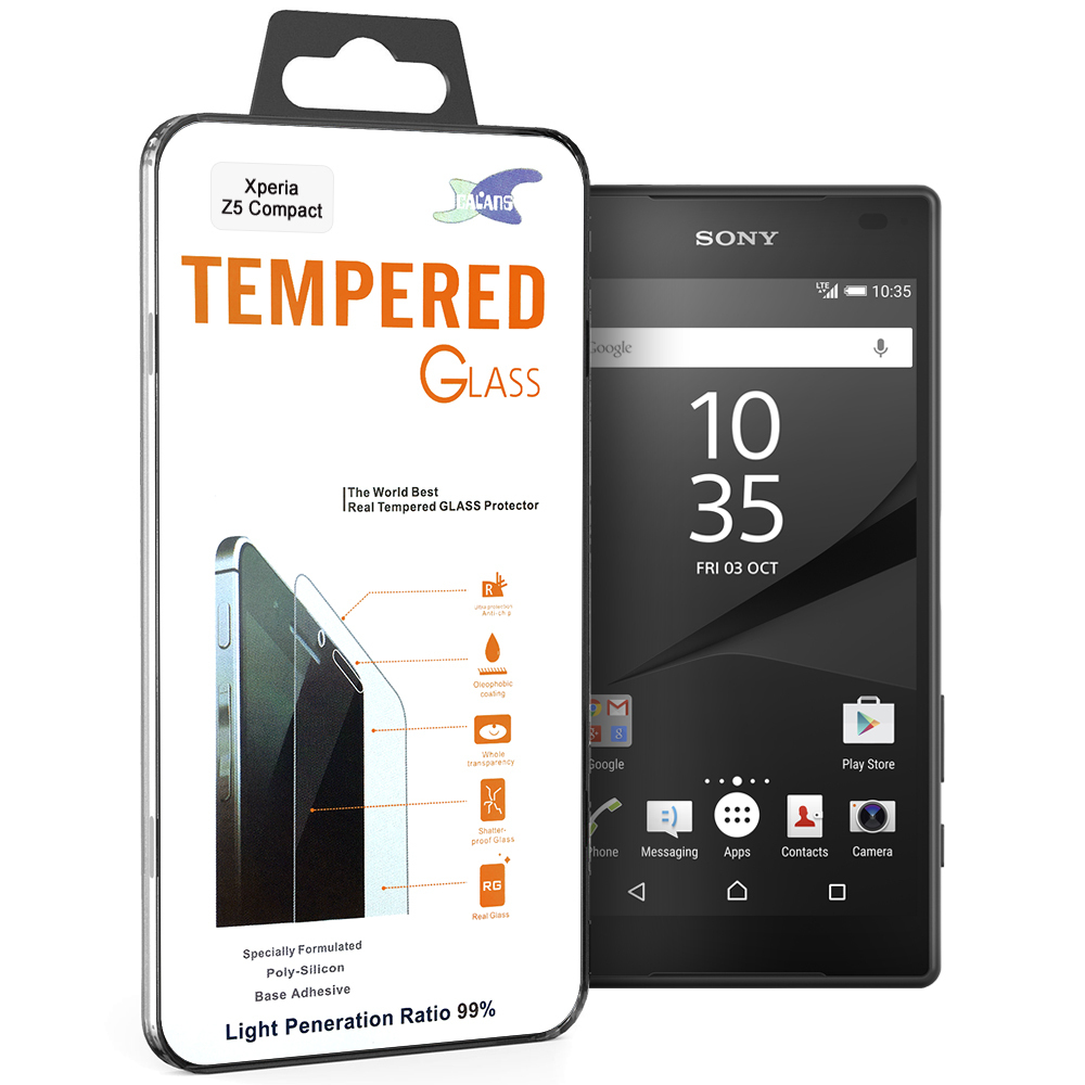 9h Tempered Glass Screen Protector Sony Xperia Z5 Compact