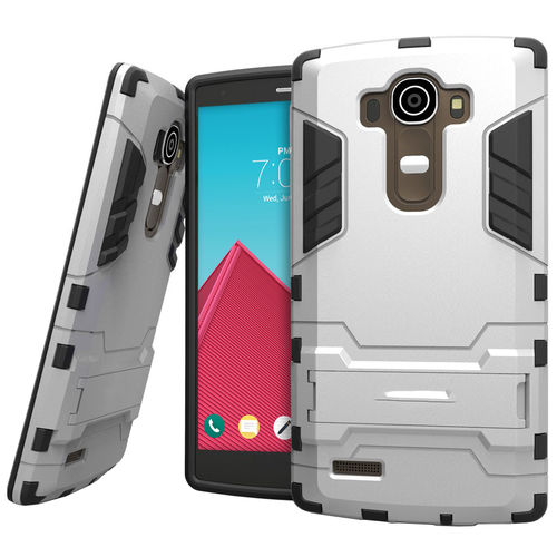 Slim Armour Tough Hard Shockproof Case for LG G4 - Silver