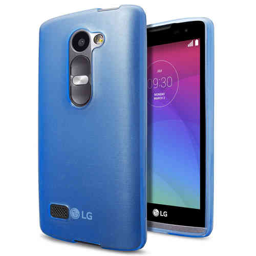 Flexi Gel Crystal Case for LG Leon - Blue (Gloss)