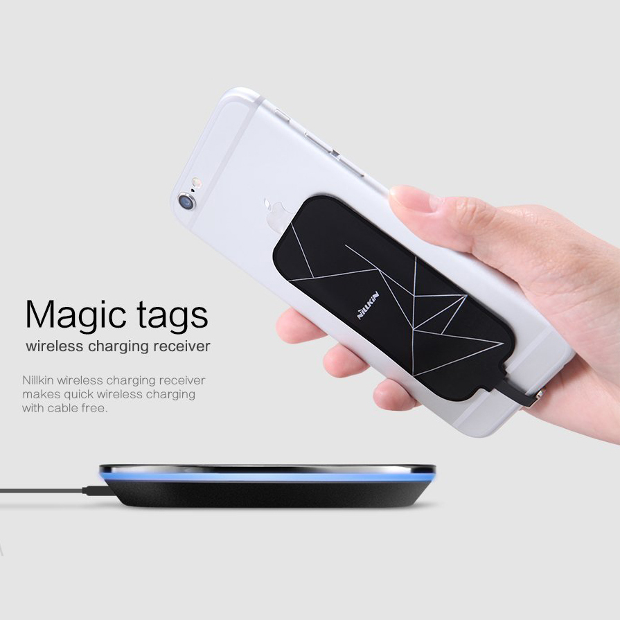 nillkin wireless charging receiver card iphone 7 6s. Black Bedroom Furniture Sets. Home Design Ideas